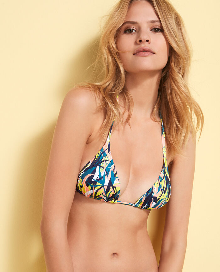 Gepolstertes Triangel-Bikini-Oberteil Bunt MIX & MATCH