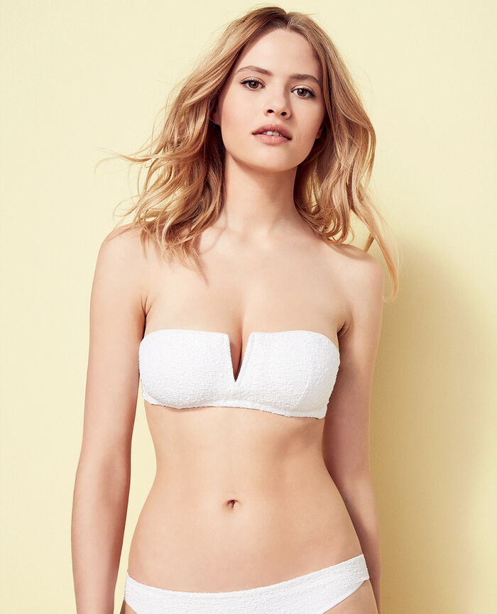 Soutien-gorge de bain bandeau mousse sans armatures Blanc Movie