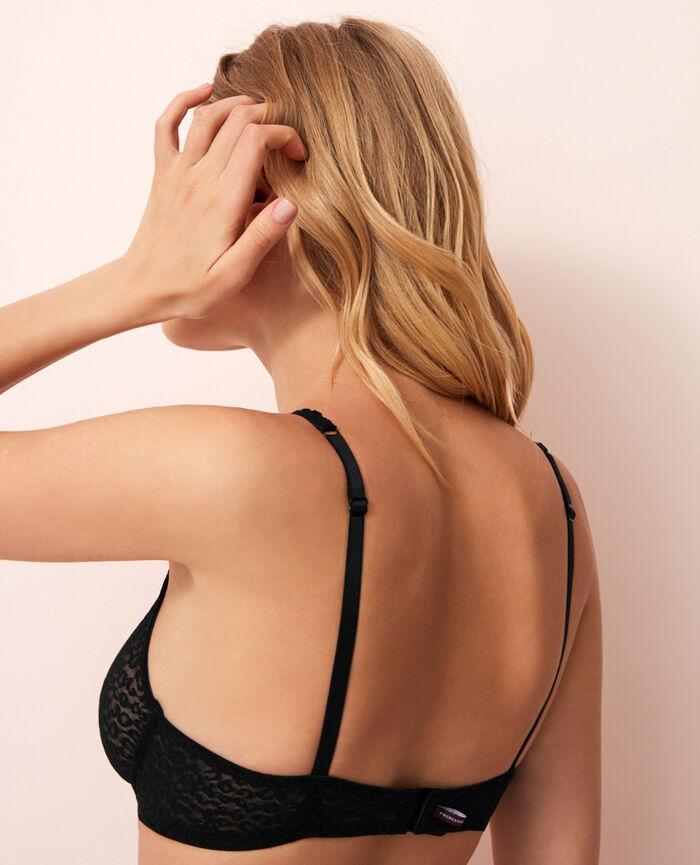 Underwired triangle bra Black Belle
