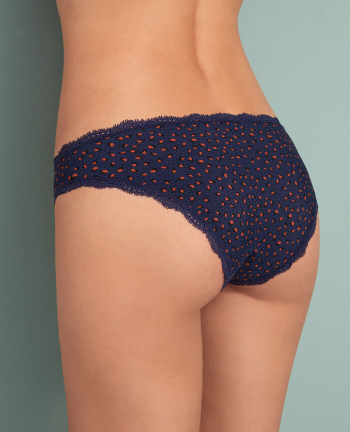 Hipster briefs Leopard blue  Take away