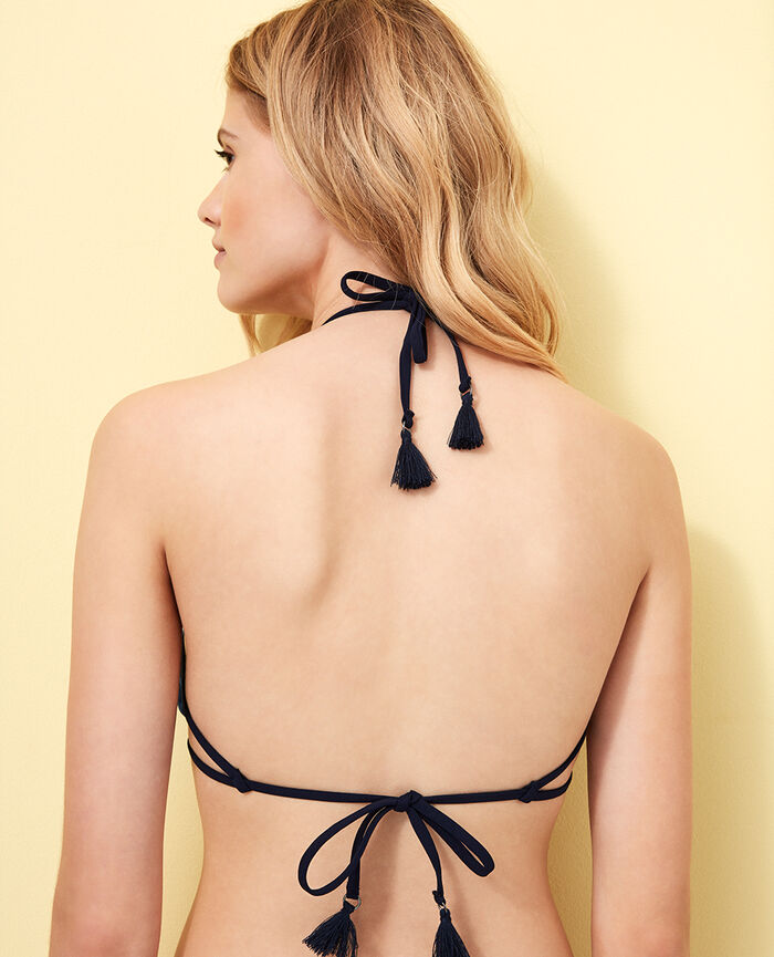Padded triangle bikini top Samba blue Bomba