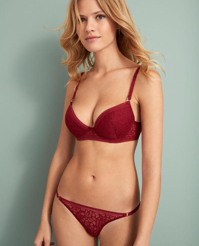 Culotte taille basse Rouge cuir Manhattan