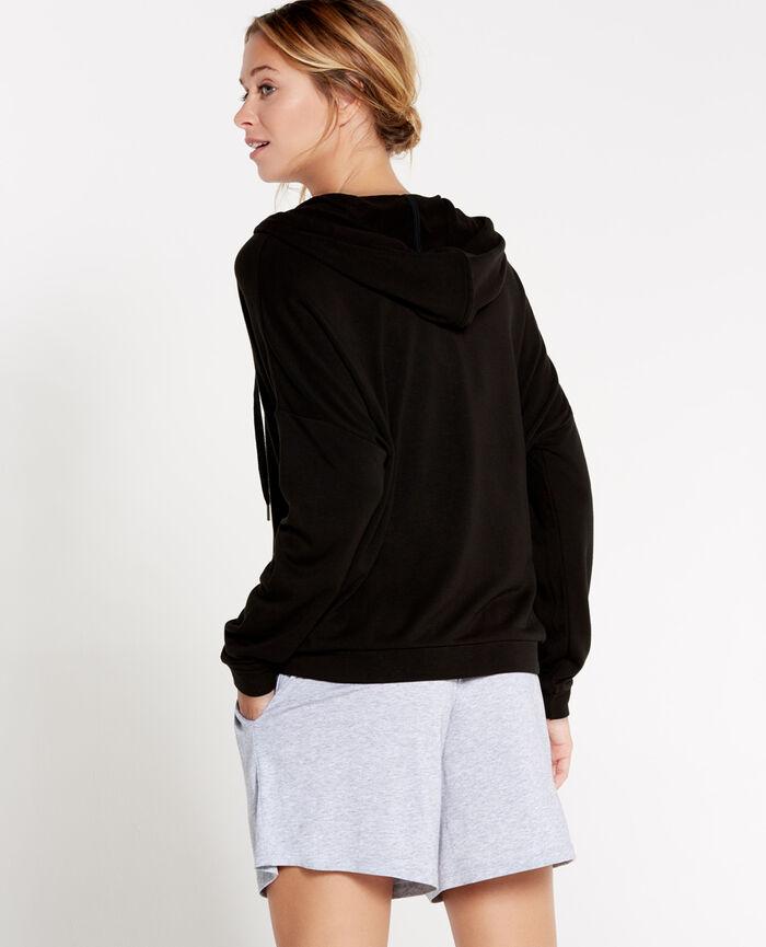 Hoodie Black Loungewear