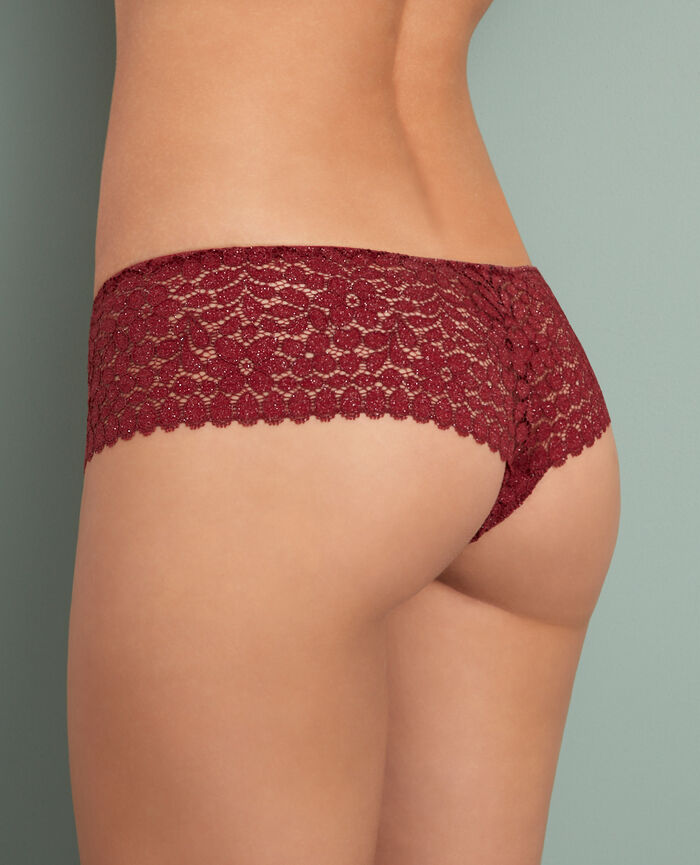 Brazilian briefs Leather red Movica