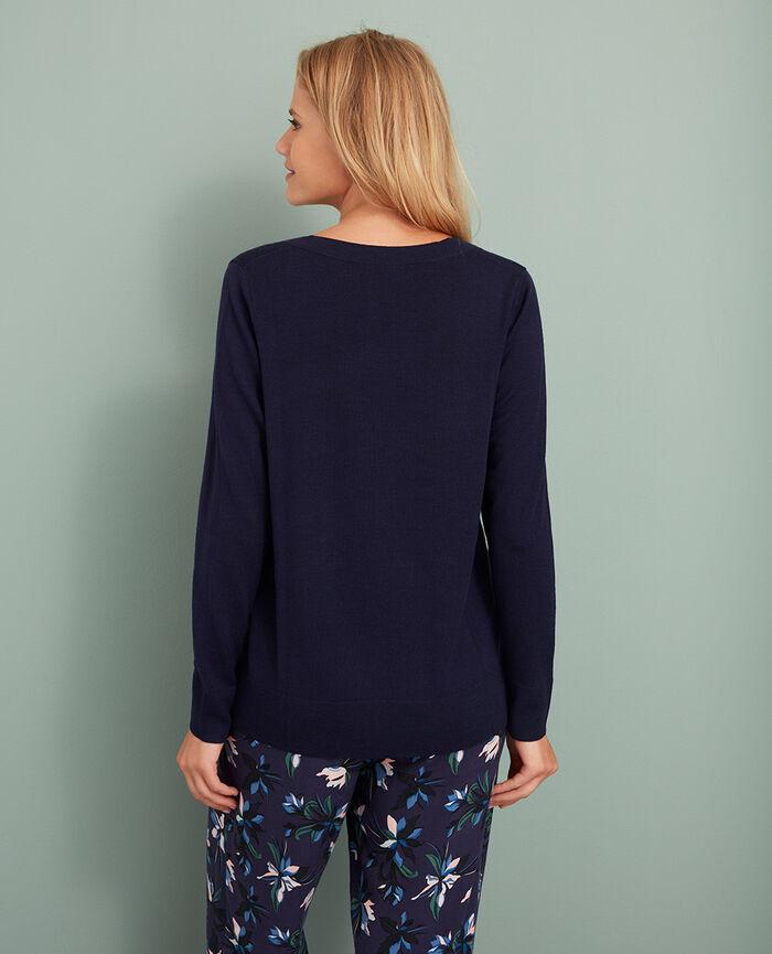 Pullover mit V-Ausschnitt Manhattan Blau EXTRA