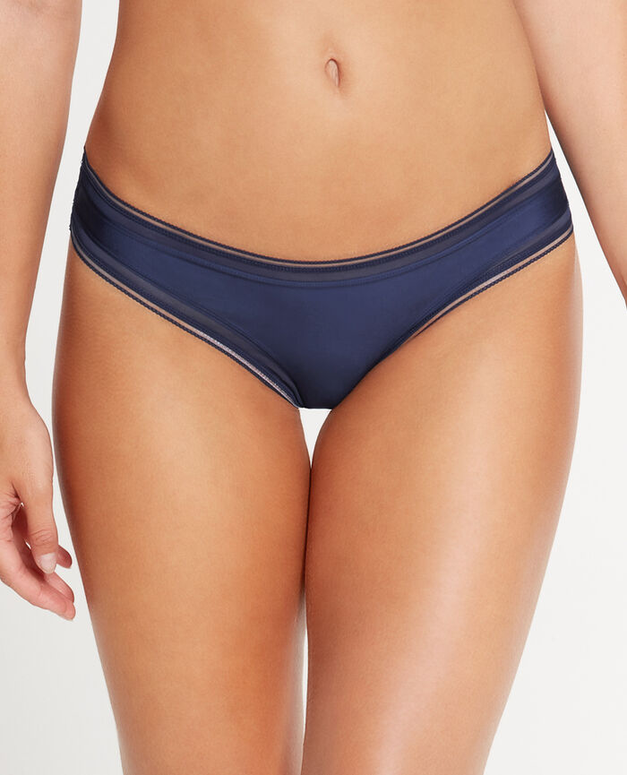 MAKE UP Navy Hipster briefs