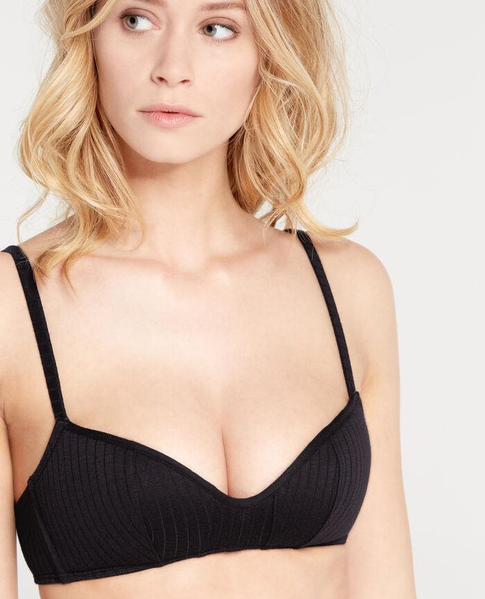 INFINITY Black Soft push-up bra