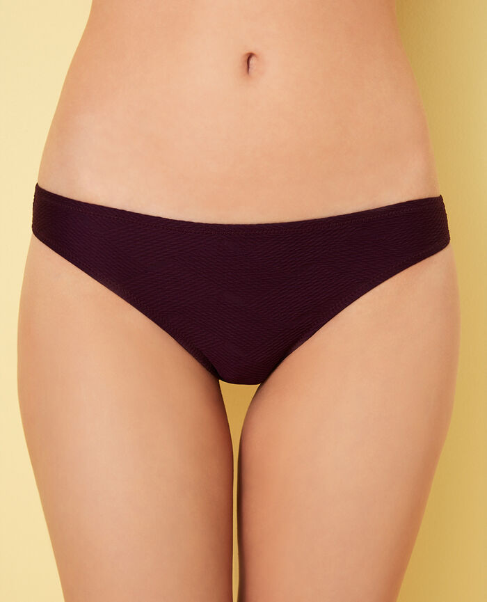 High-cut bikini briefs Ethnic purple Niala