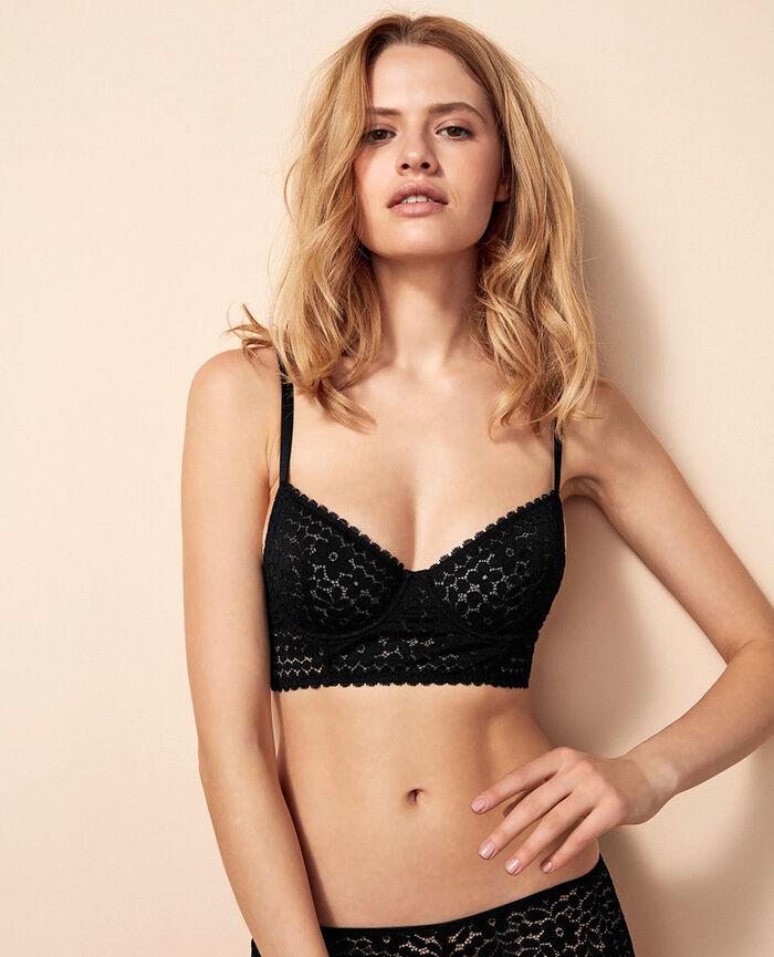 MONICA Black Bustier bra