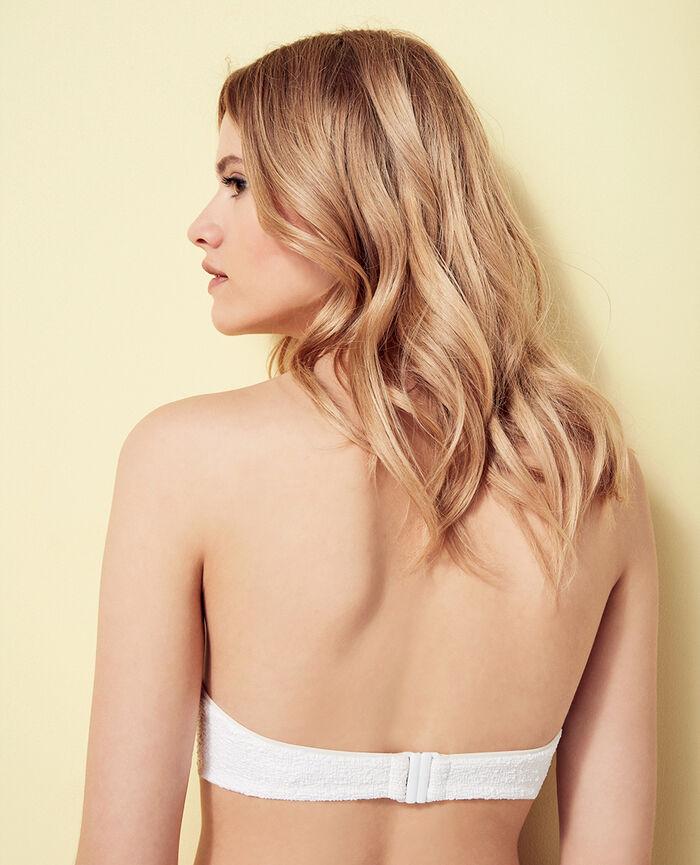 Gepolstertes Bandeau-Bikini-Oberteil ohne Bügel Weiß MOVIE