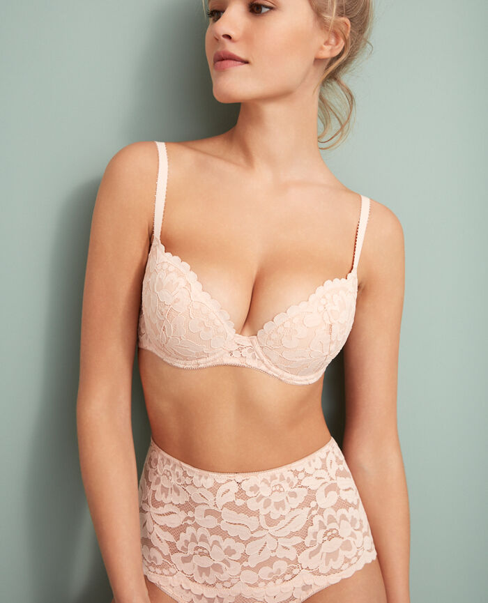 Gepolsterter Push-up-BH Eis Rose ANGELINA
