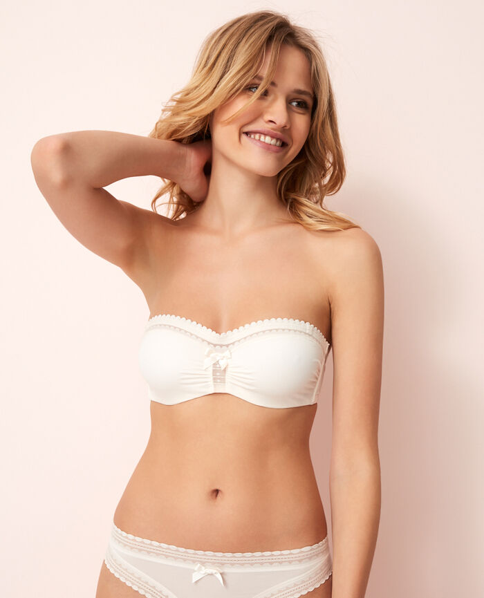 BEAUTE Rose white Strapless bra