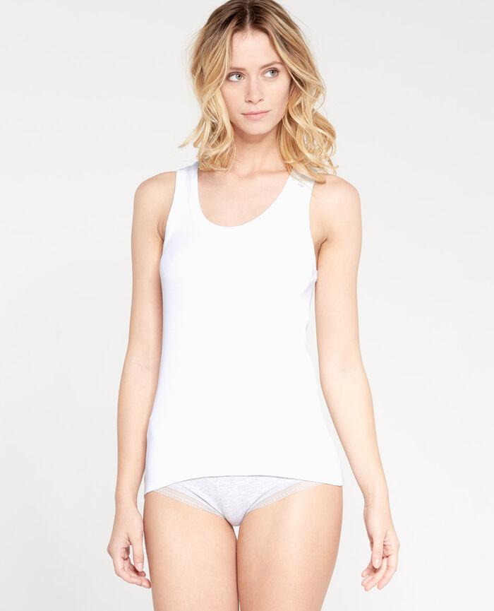 RICKY White Vest top