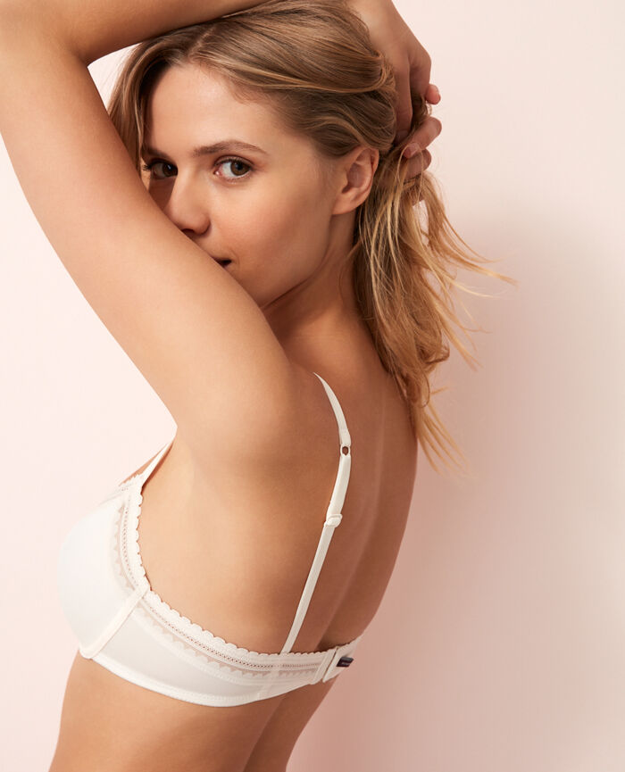 Underwired bra Rose white Beaute