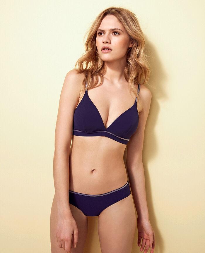 Brazilian bikini shorts Denim blue Ohlala