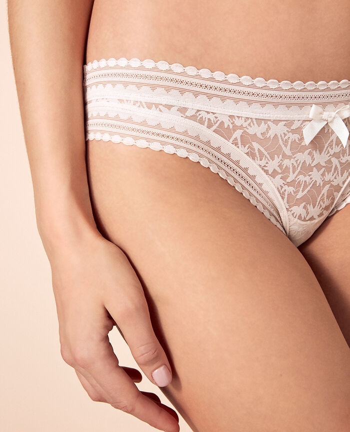 Brazilian briefs Rose white Bella
