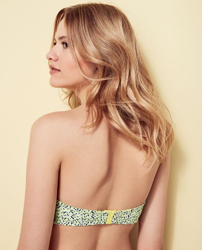 Concealed underwired strapless bikini top Anisette yellow Stellar