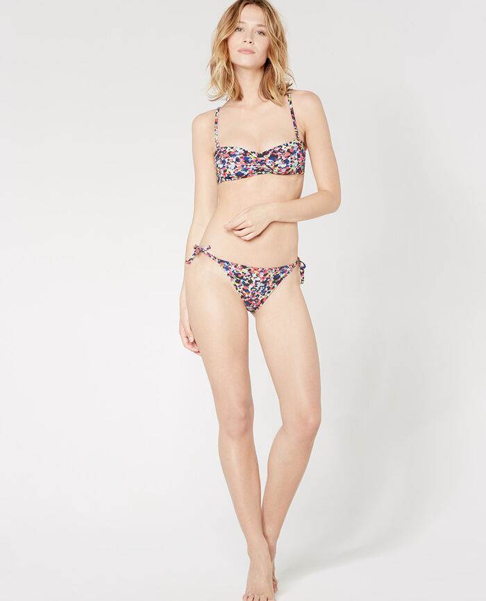 PARADIS Multicolour Padded strapless bikini top