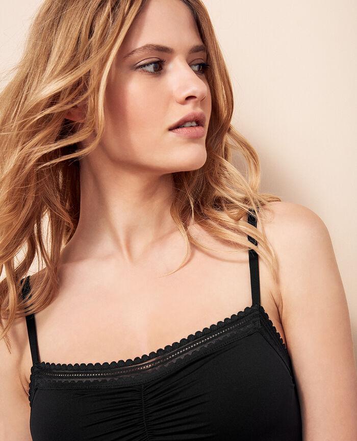 BEAUTE Black Dress with built-in bra