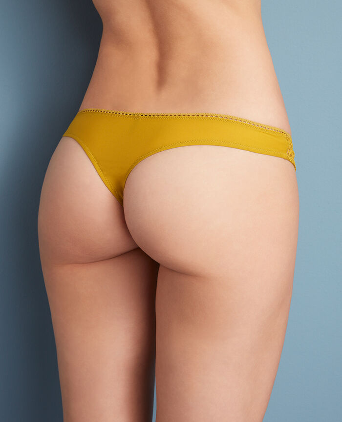 Thong Pickles yellow Boheme