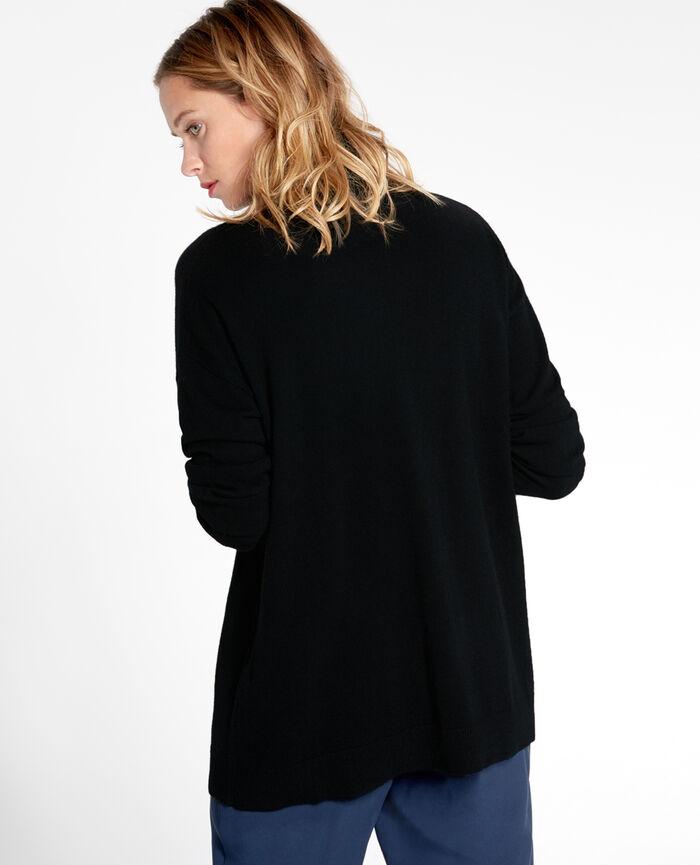 COZY Black Turtle-neck jumper