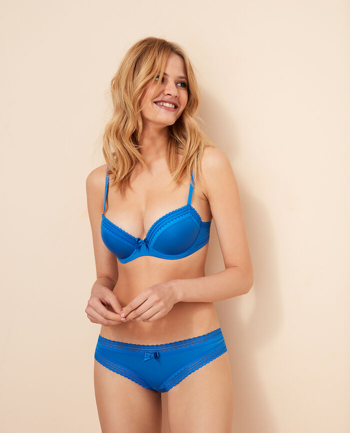 Progressive-cup push-up bra Samba blue Beaute