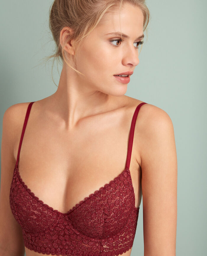 Bustier-BH Leder Rot MOVICA