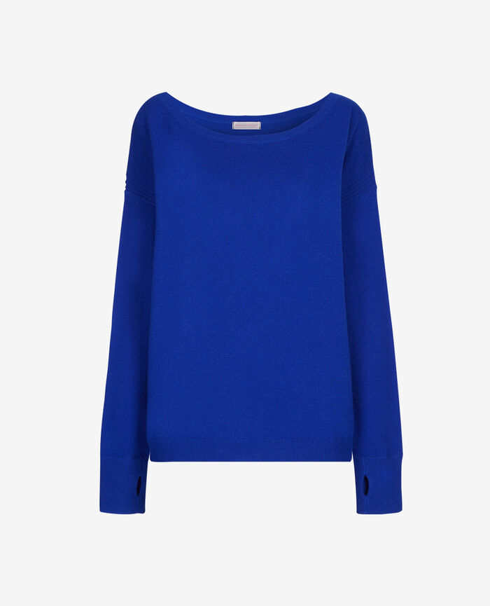 Boatneck jumper Blue splash Cozy