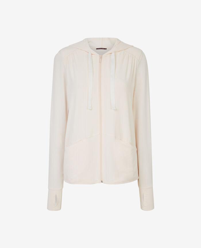 Veste à capuche en jersey Blanc rosé Air loungewear