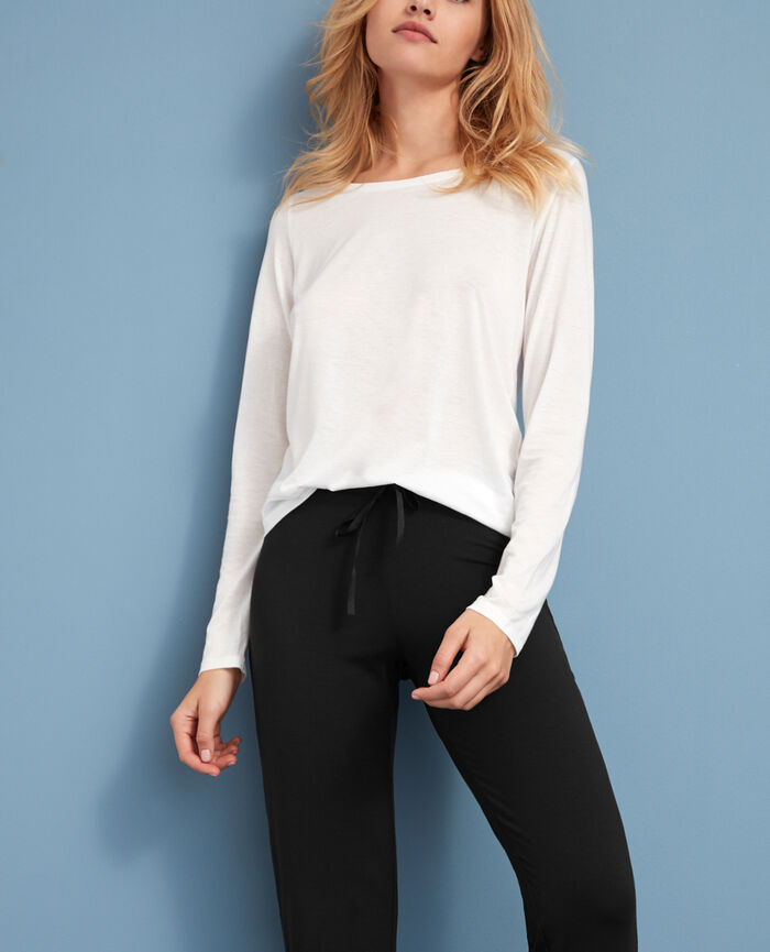 Long-sleeved t-shirt Ivory Latte