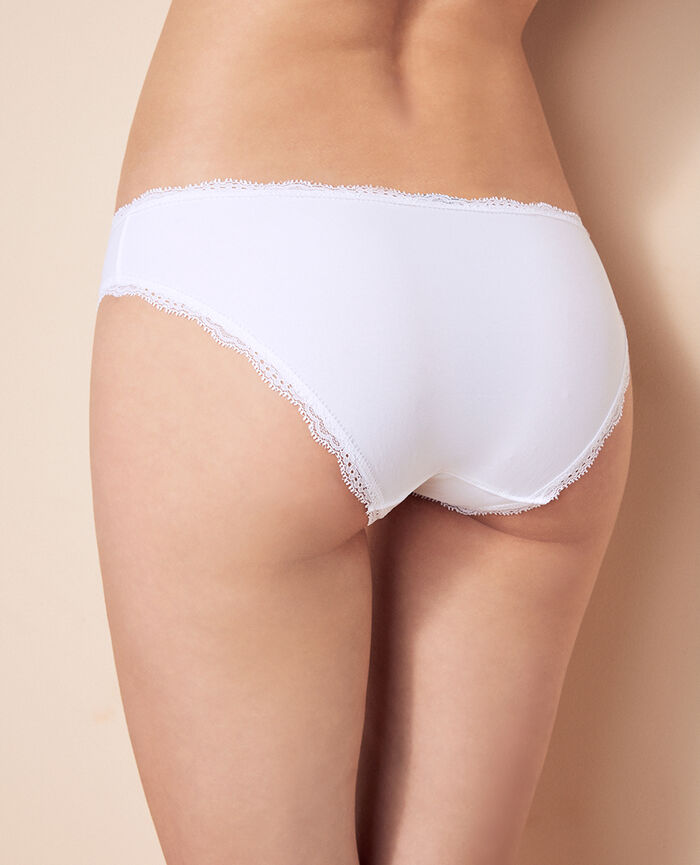 Culotte taille basse Blanc Take away