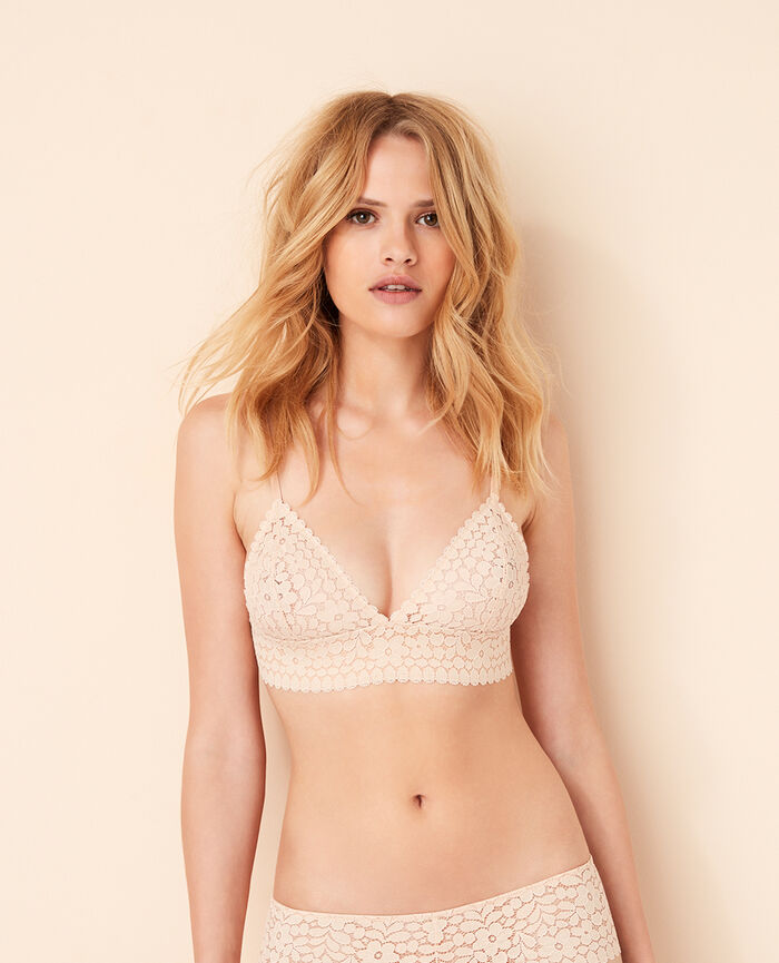 Soft cup bra Powder Monica