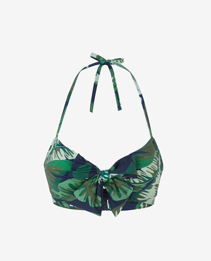 Concealed underwired strapless bikini top Multicolour Voyage voyage