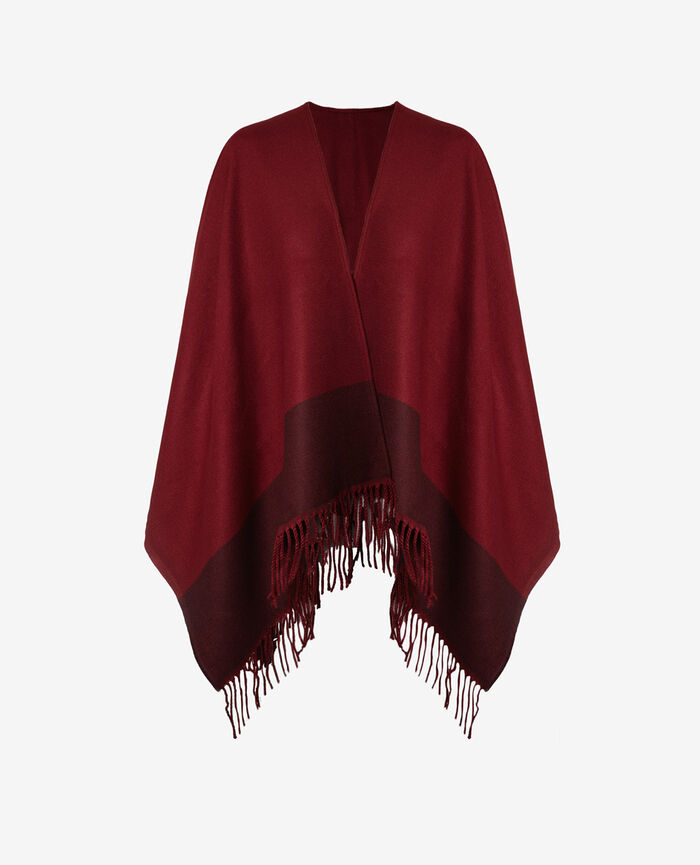Poncho Leather red Soft