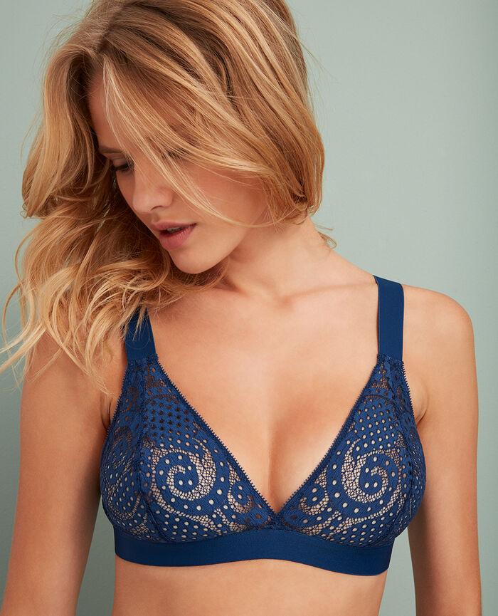Soft cup bra Jersey blue Metropolitan