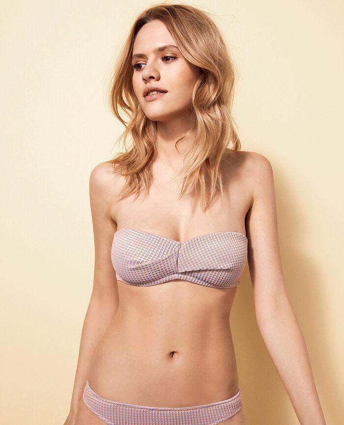 Bandeau-Bikini-Oberteil ohne Bügel Funky Rosa PEPITA