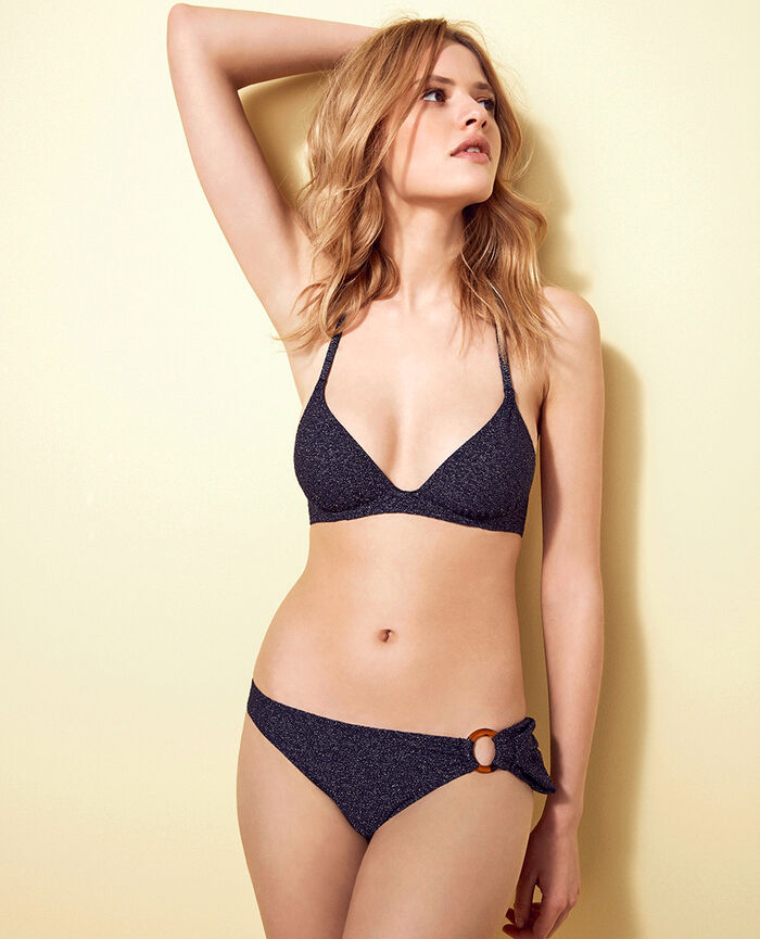 Hipster bikini briefs Denim blue Makeda