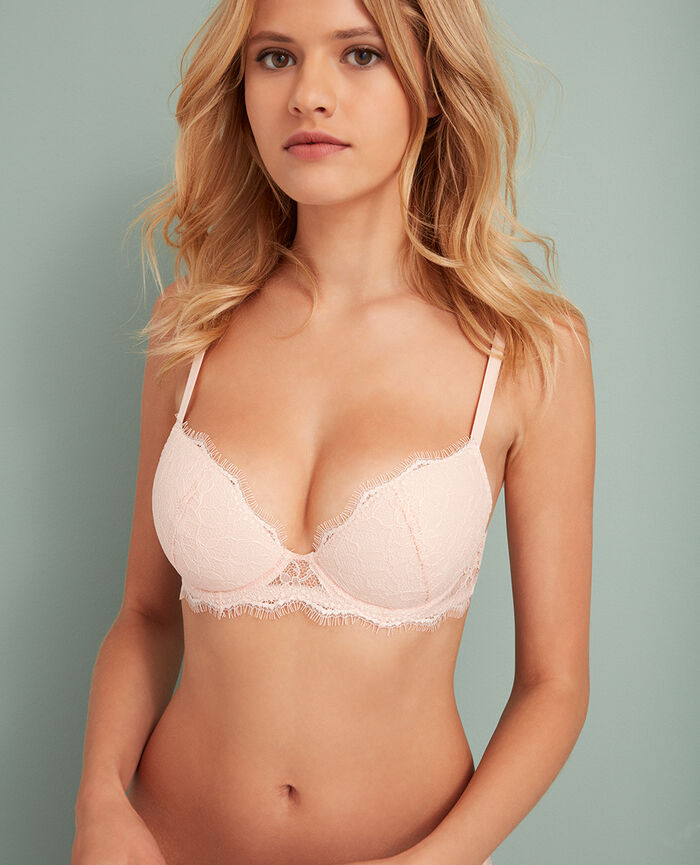 Soutien-gorge push-up mousses Rose lytchee Taylor
