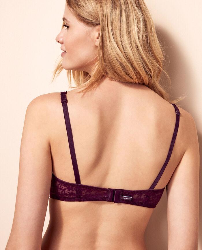 Soutien-gorge triangle avec armatures Violet ethnic Bella
