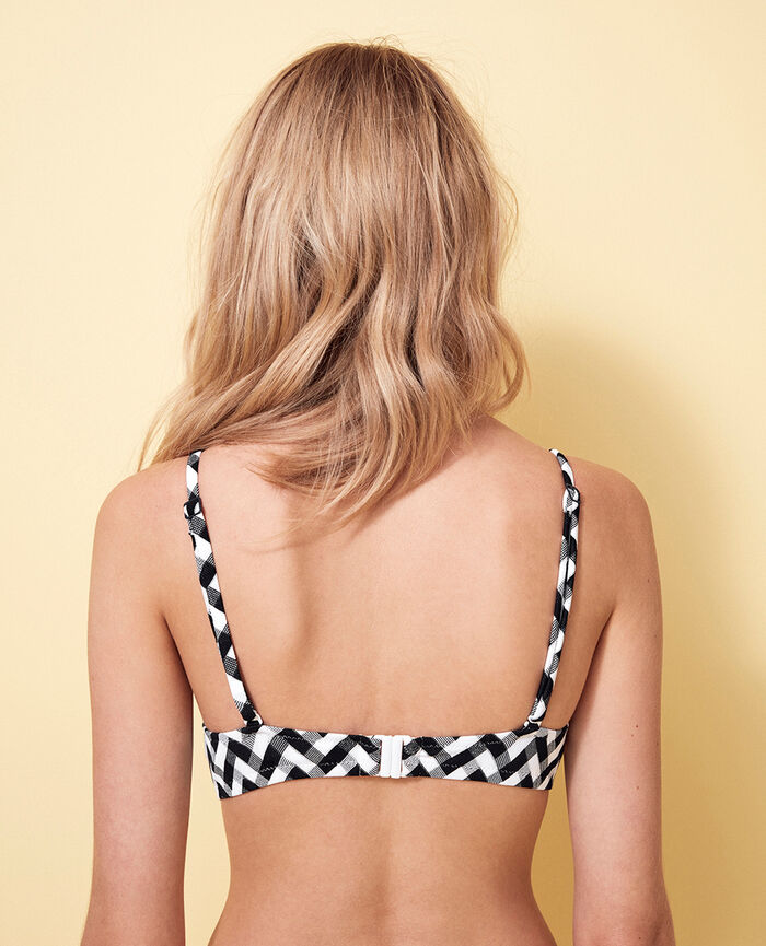 Concealed underwired strapless bikini top Black Zebra