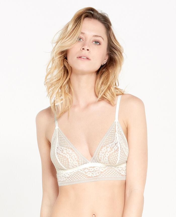 VERTIGE Cream white Soft cup bra