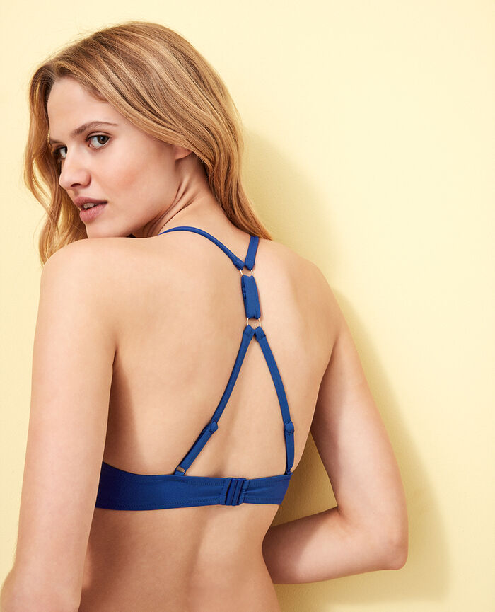 Triangel-Bikini-Oberteil mit Mini-Wire Mascarablau NUMA