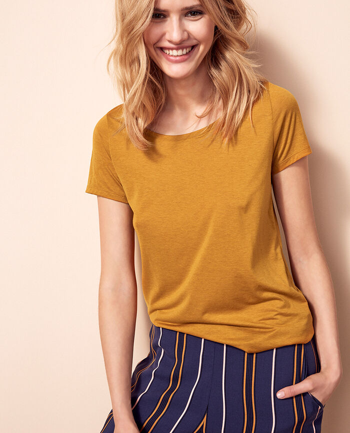 Short-sleeved t-shirt Turmeric brown Latte