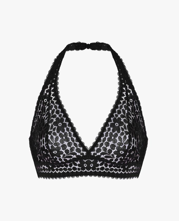 Backless triangle bra Black Monica