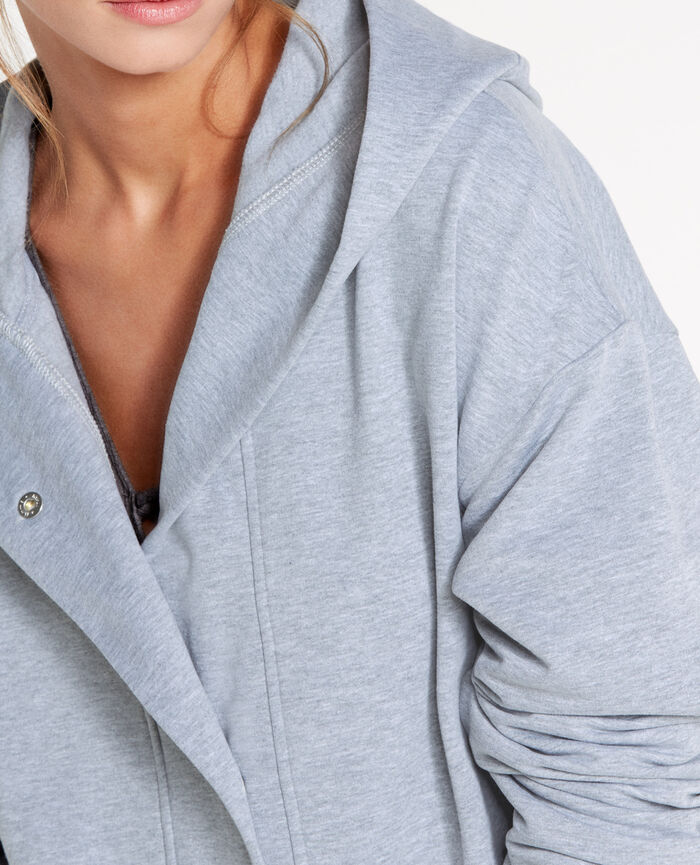 Medium-length jacket Flecked grey Sweat collection