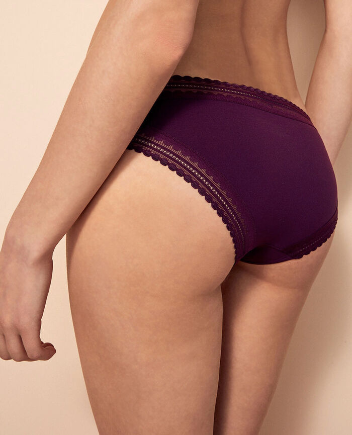 Culotte taille basse Violet ethnic Beaute