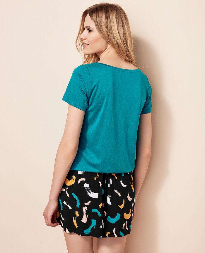 Kurzärmliges T-Shirt Pigmentgrün LATTE