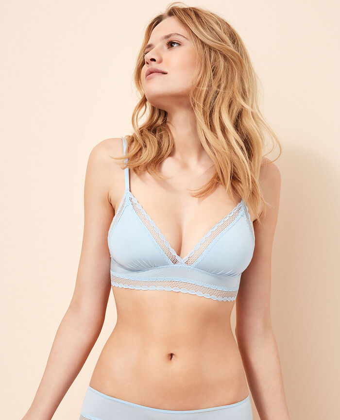 Soft cup bra Skyscraper blue Air lingerie