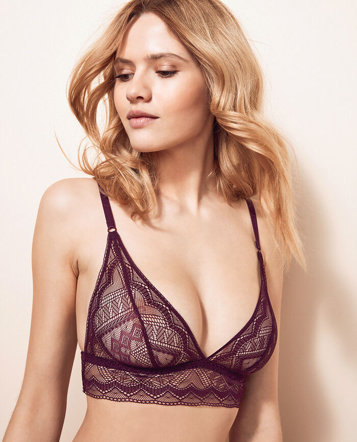 Soft cup bra Ethnic purple Passion