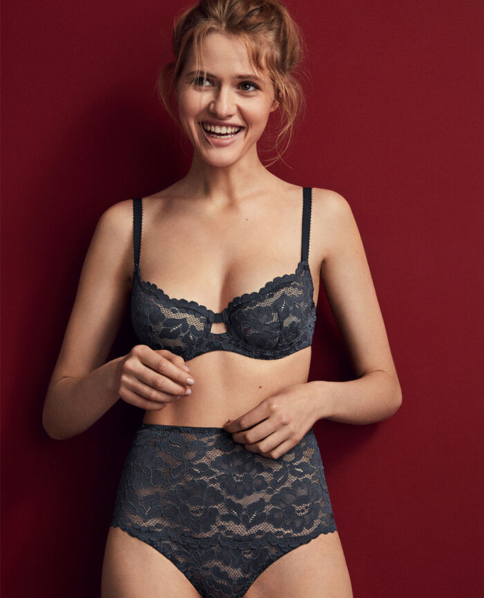 Half-cup bra Subway grey Angelina